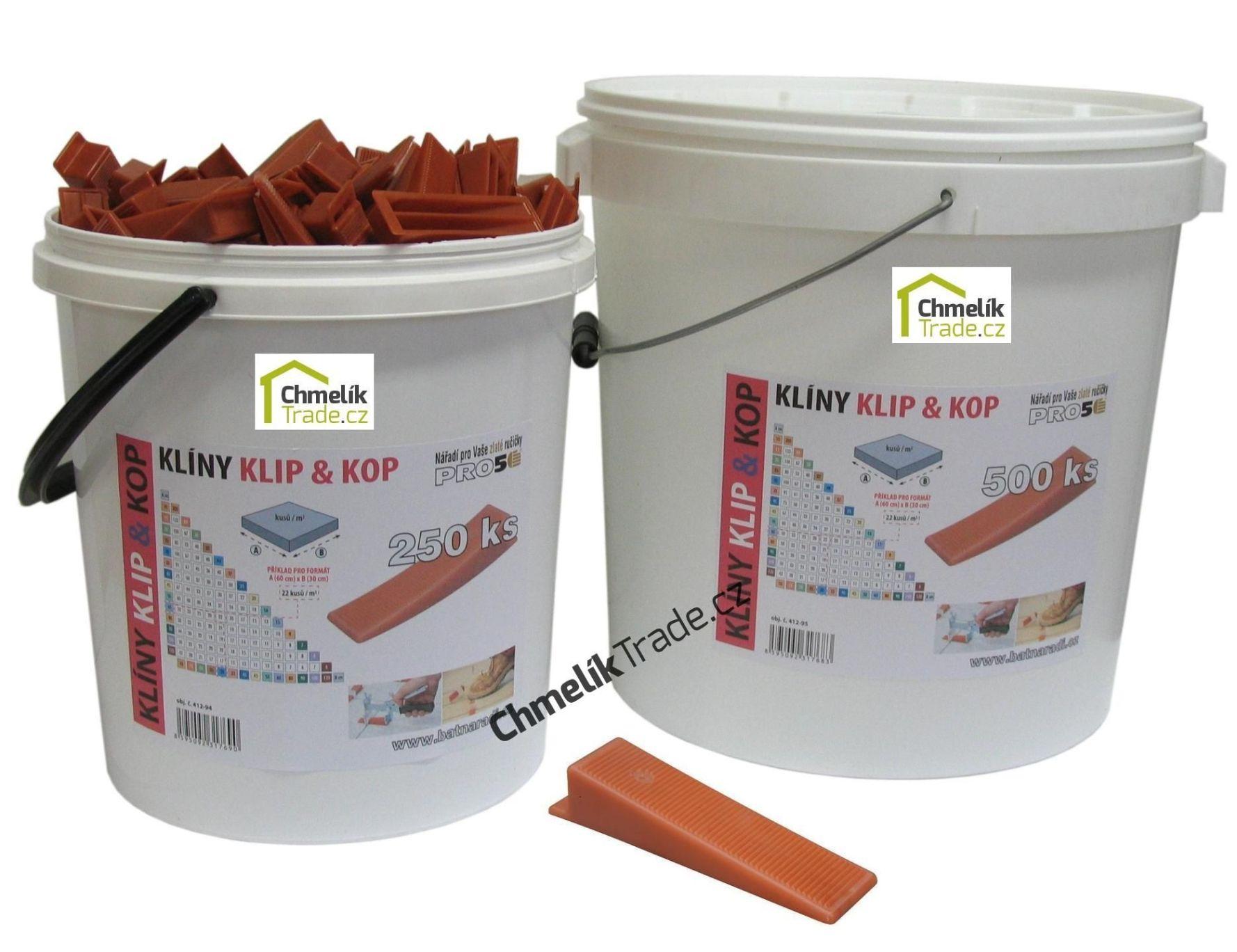 Klín KLIP & KOP (500ks/bal) v plastovém kbelíku